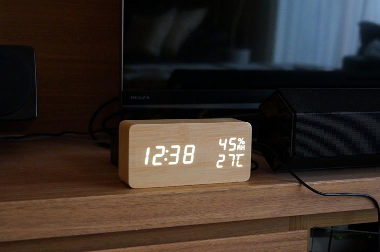 Focusam デジタル置き時計 LED 木目調 レビュー