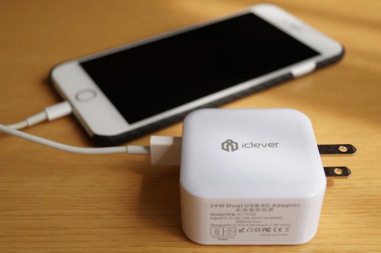 iClever 2ポート USB急速充電器 4.8A 24W レビュー