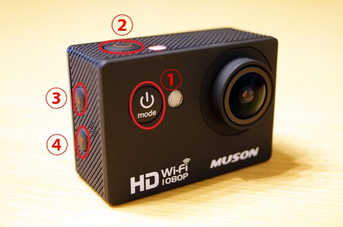 「MUSON C1 ア「MUSON C1 アクションカメラ」の使い方/Wi-Fi及び「Ez iCam」アプリ使用方法