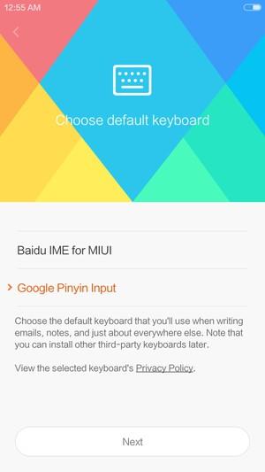 Xiomi Redmi Note 4 の初期設定