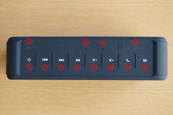 「Anypro ポータブル Bluetoothスピーカー HFD-895」の使い方