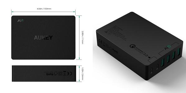 「Aukey USB充電器 ACアダプター 60W 6ポート PA-Y6」の特徴/仕様
