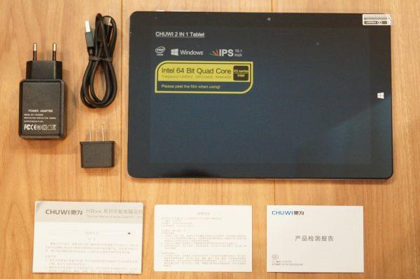 「CHUWI HiBook Pro」のセット内容