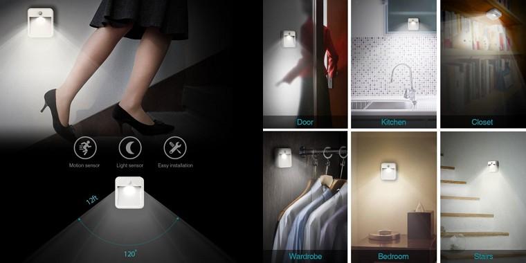 dodocool LEDナイトライト明暗&人感センサー レビュー