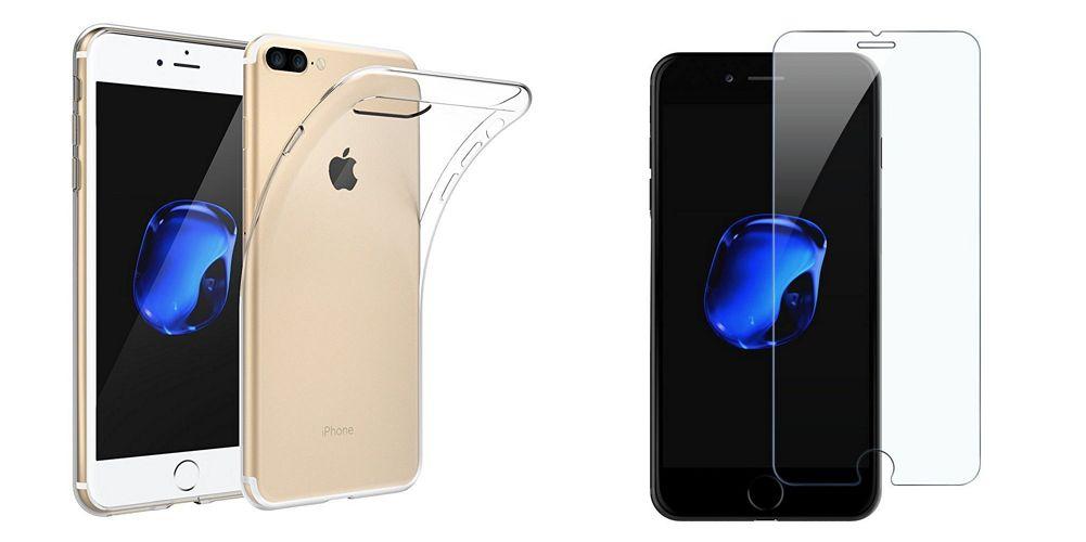 iPhone 7 Plus ジェットブラックにおすすめ!EasyAccの「TPUケース」&「強化ガラスフィルム」がピッタリフィットでいい感じ♪