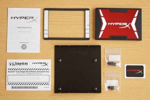 「HyperX Savage SSD」のセット内容