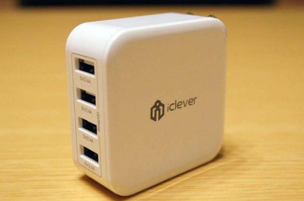 「iClever 4ポート USB充電器 8A 40W IC-TC04」レビュー!