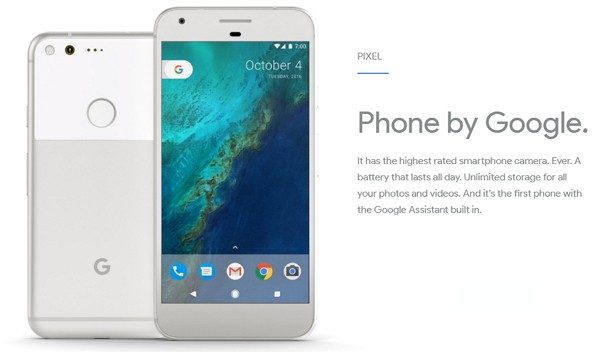 初のGoogle純正スマホ「Pixel」(5インチ)&「Pixel XL」(5.5インチ)