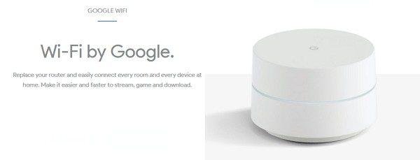 家のどこでもWiFiが楽しめるように設計された「Google WiFi」