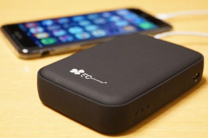 【レビュー】これはおすすめ!「EC Technology 12000mAh モバイルバッテリー 3ポート」は大容量かつUSB-Cポート搭載の万能バッテリー!触り心地もいいよ!