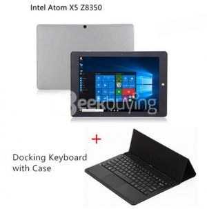[Package A] CHUWI Hi10 Plus Intel Atom X5 Z8350 Tablet PC (Gray) + Docking Keyboard With Holder Case (Black)