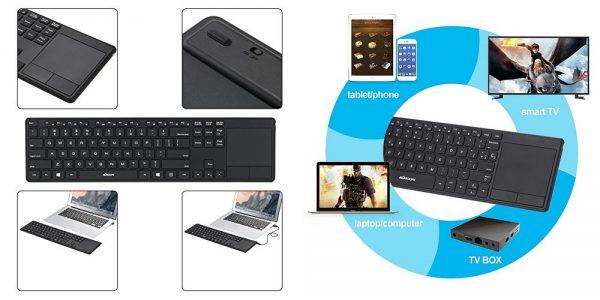 「KKmoon 英語配列 ワイヤレスキーボード」の特徴/仕様