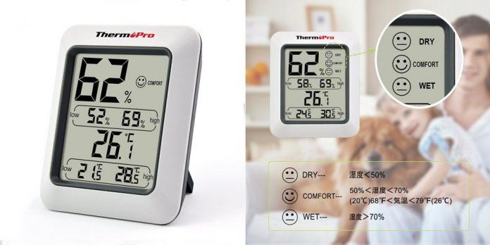 【レビュー】シンプル機能で使いやすい!「ThermoPro デジタル温湿度計 TP50」は湿度と温度がサクッと確認できる便利なデジタル温湿度計!