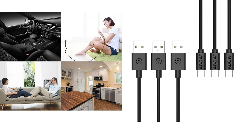 「ABOAT USB Type-Cケーブル USB-A to USB-C 3本セット」レビュー!