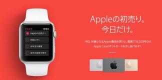 Appleが1月2日限定で初売りセールを開催中!最大1万6500円分のギフトコードが貰えますよ!
