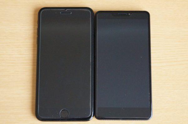 「BLUBOO Dual」と「iPhone 7 Plus」の比較