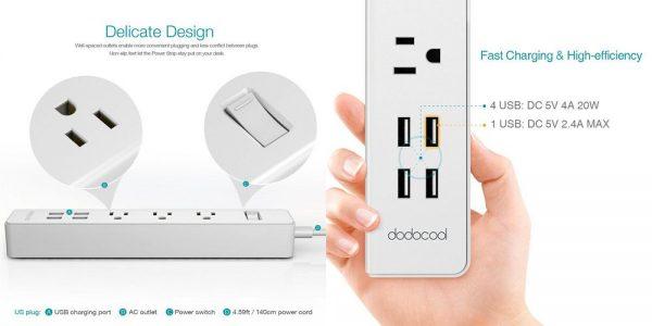 「dodocool 電源タップ ACコンセント + USB充電ポート付き」の特徴/仕様