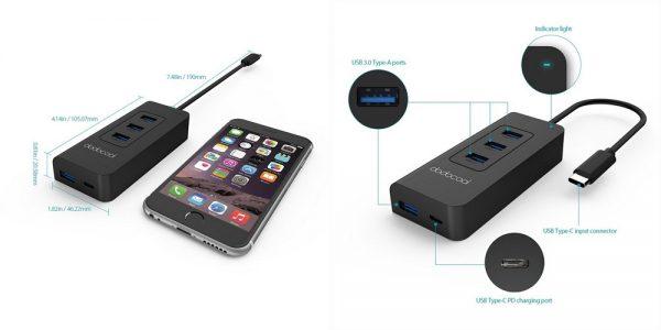 「dodocool USB-Cハブ to 4×USB3.0ポート」の特徴/仕様