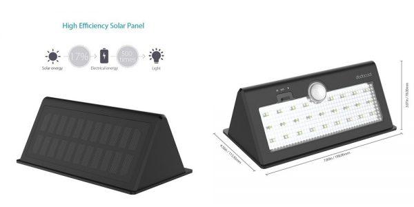「dodocool 26 LED 防水ソーラーライト 520ルーメン」の特徴/仕様