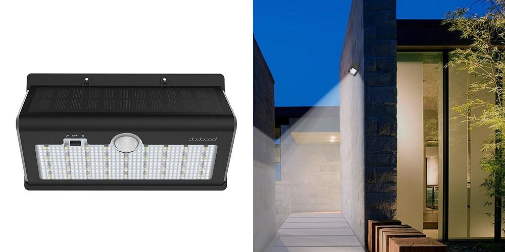 【レビュー】明るくて機能的!「dodocool 26 LED 防水ソーラーライト 520ルーメン」は大容量バッテリーを内蔵した使いやすいソーラーライト!軒先などの照明に最適ですよ!