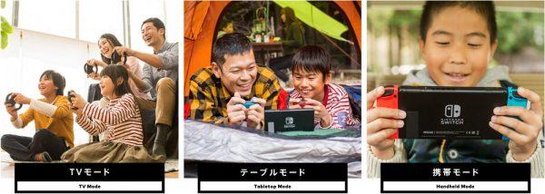 Nintendo Switch 3モード