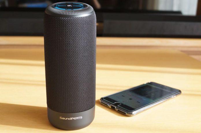 【レビュー】音質良好で手軽に音楽が楽しめる!「SoundPEATS Bluetooth スピーカー P4」は円筒状で360度ステレオサウンドが特徴の使いやすいBluetoothスピーカー!