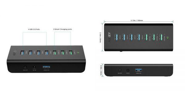 「AUKEY USB3.0ハブ 7ポート CB-H19」の特徴/仕様