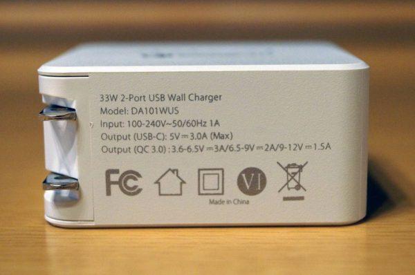 「dodocool 2ポート USB急速充電器 USB-C & QC 3.0対応 折りたたみ式プラグ」レビューまとめ!