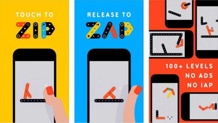 Appleが「今週のApp」としてパズルゲーム「ZipーZap」を無料配信中!
