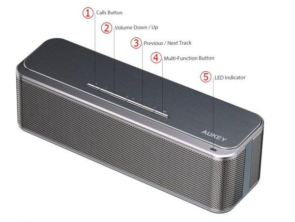 「AUKEY Bluetooth ワイヤレススピーカー SK-S1」の基本的な使い方&Bluetoothペアリング方法