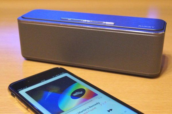 【レビュー】これは良い!「AUKEY Bluetooth ワイヤレススピーカー SK-S1」は迫力あるサウンドと高級感のあるデザインでおすすめ!