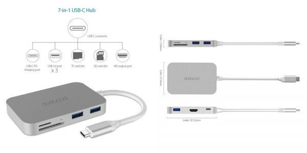 「dodocool 7イン1 USB-Cハブ DC30」の特徴/仕様