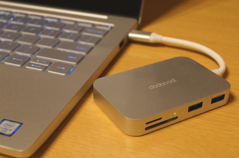 【レビュー】MacBookなどのUSB-C搭載パソコンにおすすめ!「dodocool 7イン1 USB-Cハブ DC30」はmicroSD/SDカードスロット、HDMI出力、USB 3.0、USB-Cポートなどの便利な機能をギュッとまとめた便利なハブ!