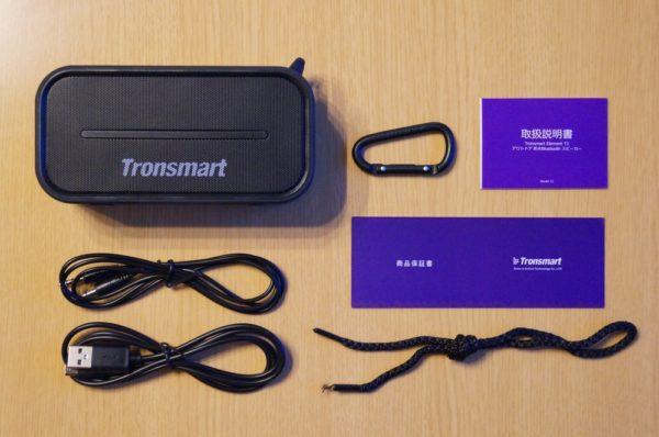「Tronsmart ポータブル Bluetooth スピーカー T2」のセット内容