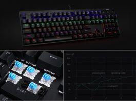【レビュー】しっかりした打鍵感が気持ちいい!「AUKEY 有線 メカニカルゲーミングキーボード KM-G6」は104/青軸採用の高品質なキーボード!