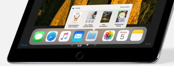 iOS 11:新機能まとめ「ipad Dock」