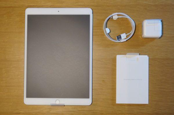 「iPad Pro 10.5インチモデル」と「Apple Pencil」の同梱物一覧