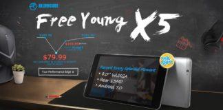 GearBest独占発売!Android 7.0搭載8インチタブレット「CUBE Free Young X5」の発売記念特価セールが開催中!