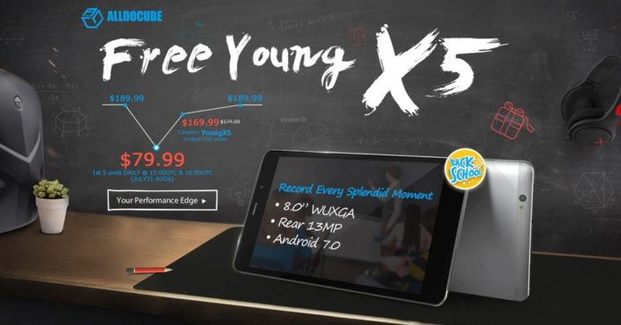 GearBest独占発売!Android 7.0搭載8インチタブレット「CUBE Free Young X5」の発売記念特価セールが開催中!