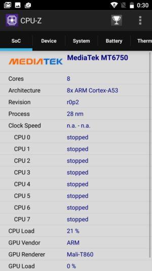 OUKITEL K10000 Pro:CPU-Z