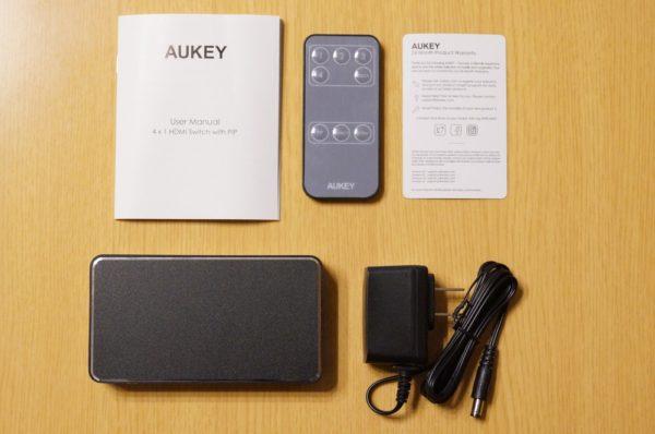 「AUKEY HDMI 切替器 4台用 HA-H14」のセット内容