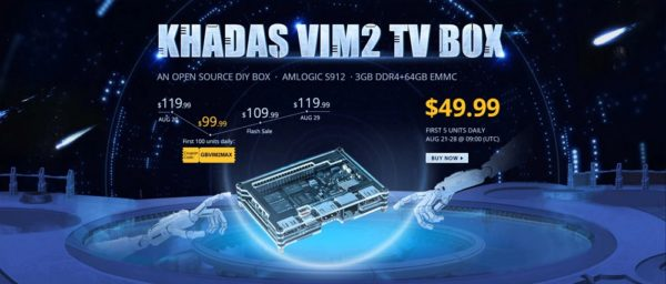 「Khadas VIM2 Max TV Box」がGearBestでセール中!