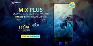 GearBest独占発売!狭額縁で安価なAndroidスマホ「Vkworld Mix Plus」が8月14日までクーポン利用で99.99ドル!毎日100台限定です!