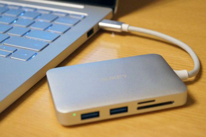 【レビュー】これがあれば大体いける!「AUKEY マルチポート USB-Cハブ CB-C59」はHDMI,SD&microSDカードリーダー,USB-C充電,USB 3.0*3ポートを搭載した便利なマルチハブ!