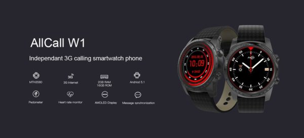 「AllCall W1 3G Smartwatch Phone」のスペック一覧
