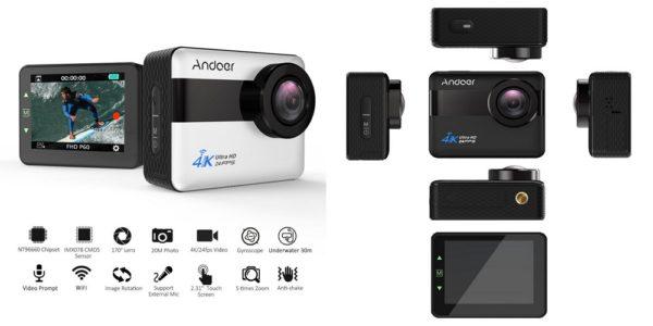 「Andoer 4K WiFi アクションカメラ」の特徴/仕様