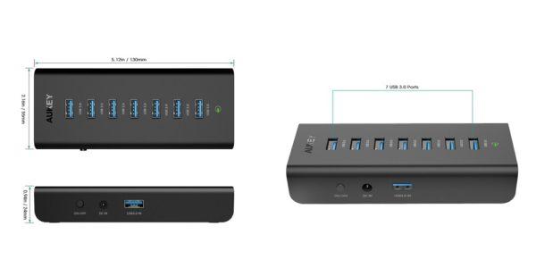 「AUKEY USB3.0ハブ 7ポート セルフパワー CB-H3」の特徴/仕様