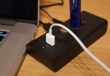 【レビュー】USBポート不足でお悩みの方に!「AUKEY USB3.0ハブ 7ポート セルフパワー CB-H3」があれば複数のUSBメモリやスマホを一気に接続できますよ!