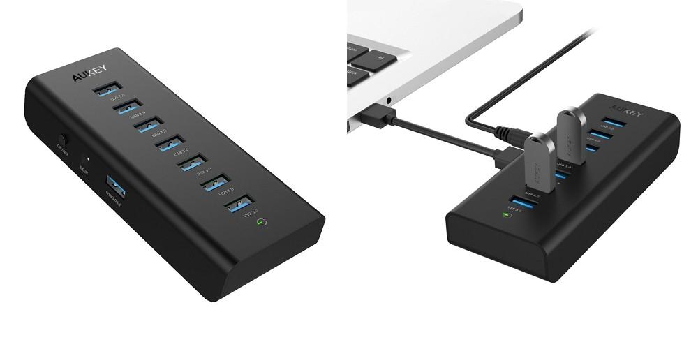 【レビュー】USBポート不足でお悩みの方に!「AUKEY USB3.0ハブ 7ポート セルフパワー CB-H3」が ...