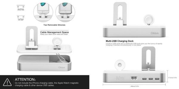 「Oittm Apple Watch/iPhone/iPad対応 多機能充電スタンド」の特徴/仕様
